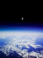 Astronaut Bruce McCandless II floating untethered away from the safety of the space shuttle..jpg